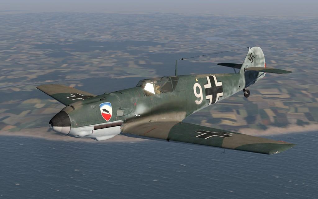 COD OD Bf 109E1 1.JG52 W9 Herbert Bischoff France 1940 V0A
