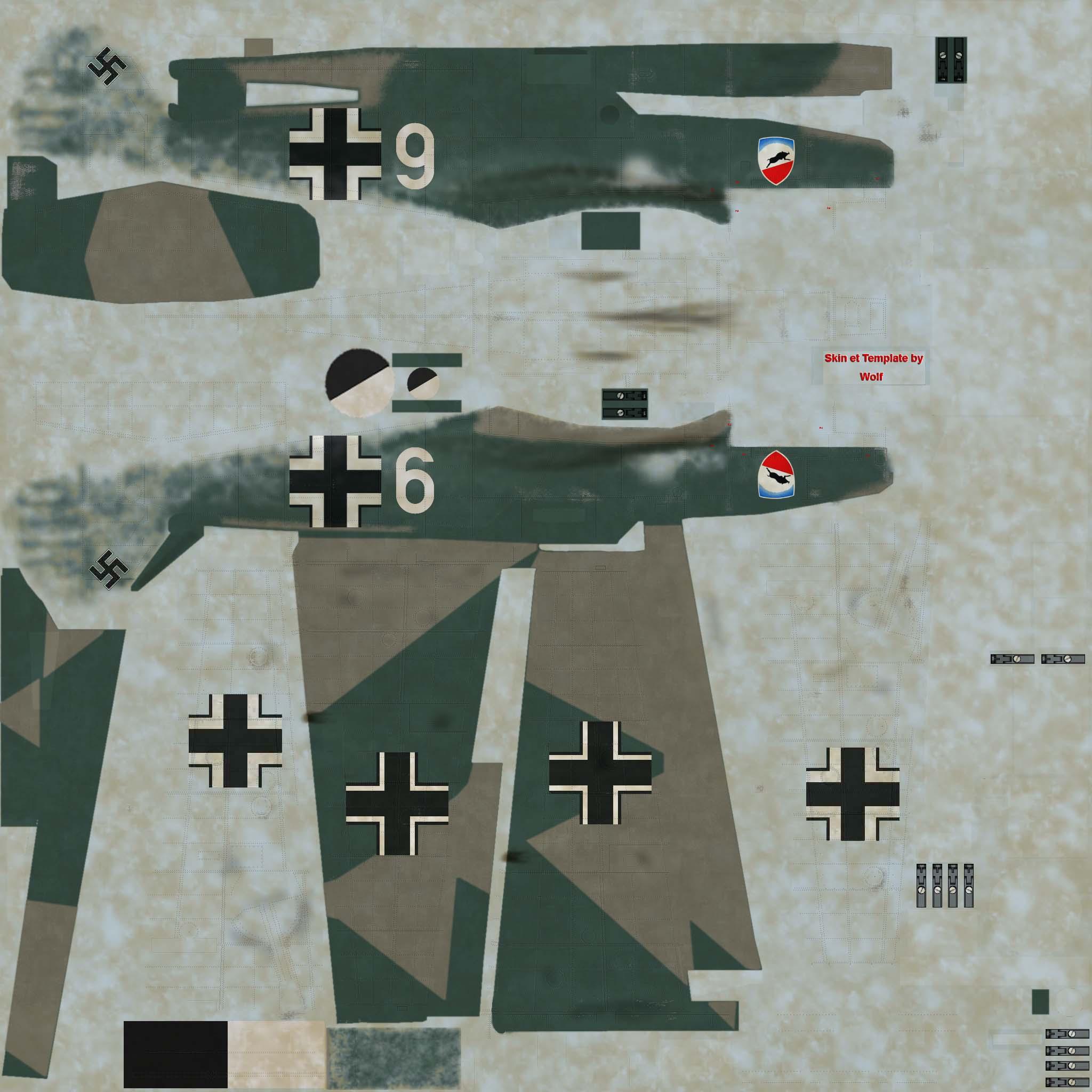 COD OD Bf 109E1 1.JG52 W9 Herbert Bischoff France 1940