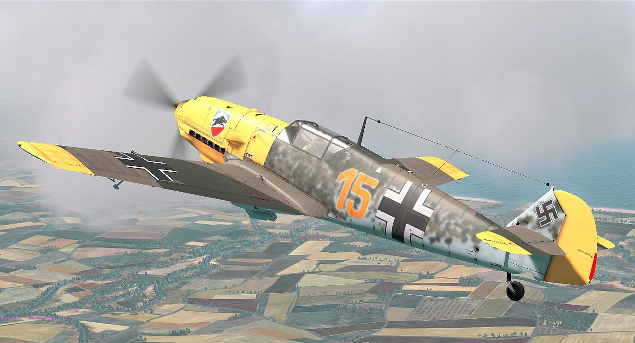 COD WN Bf 109E3 3.JG52 Y15 Kurt Wolff France 1940 V0B
