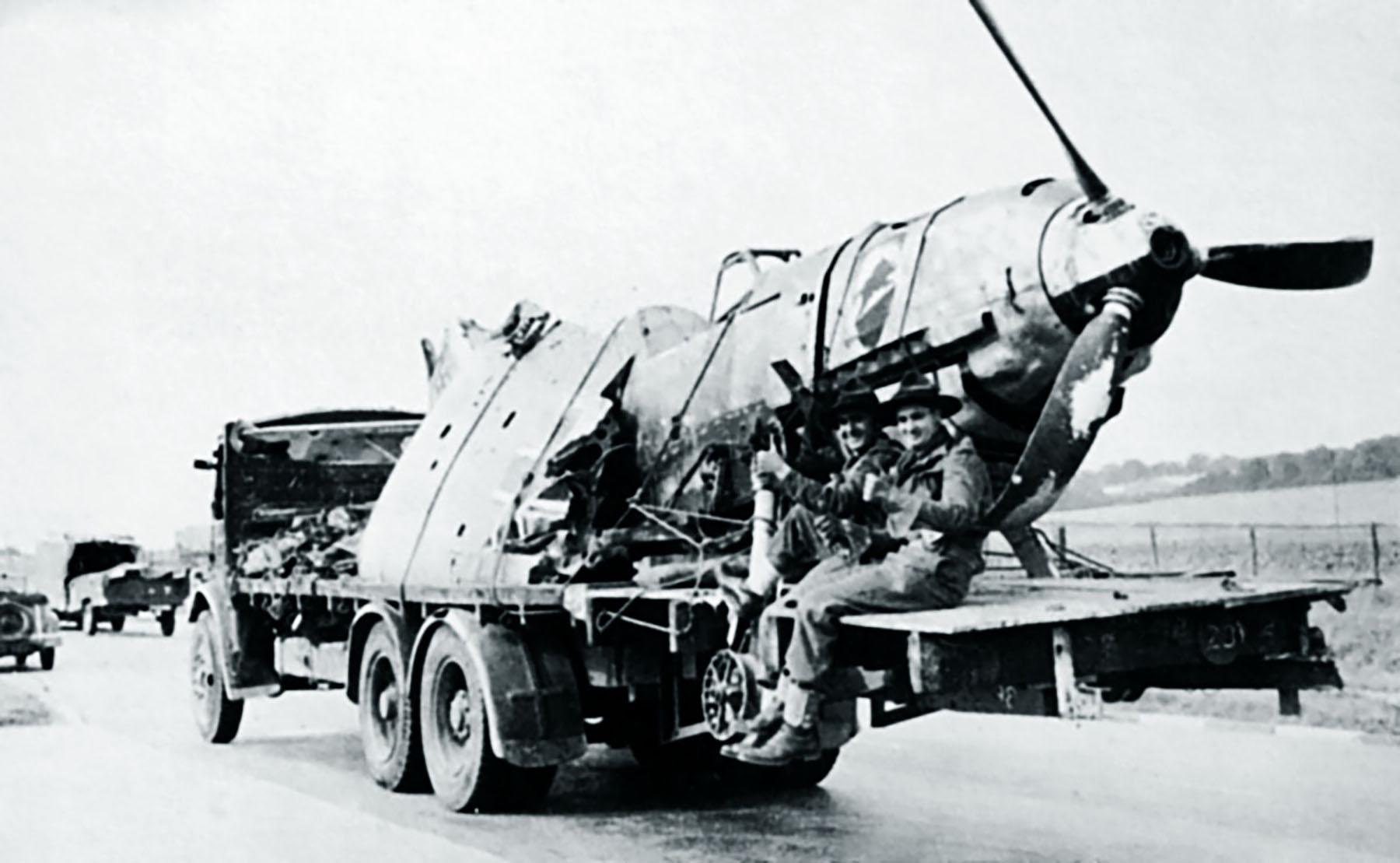 Messerschmitt Bf 109E1 1.JG52 White 9 Herbert Bischoff forced landed near Kent 24th Aug 1940 02