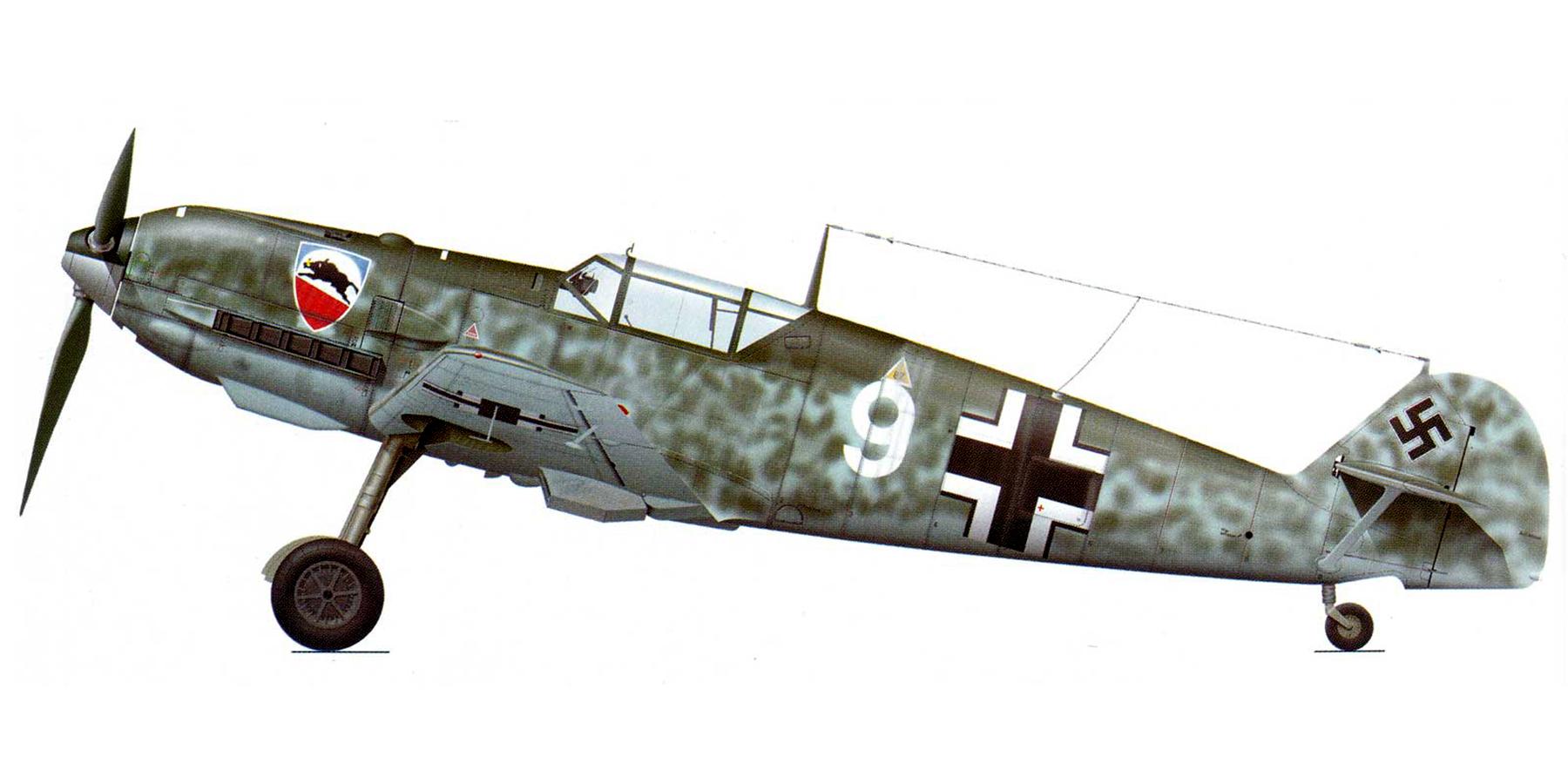 Messerschmitt Bf 109E1 1.JG52 White 9 Herbert Bischoff forced landed near Kent 24th Aug 1940 0A