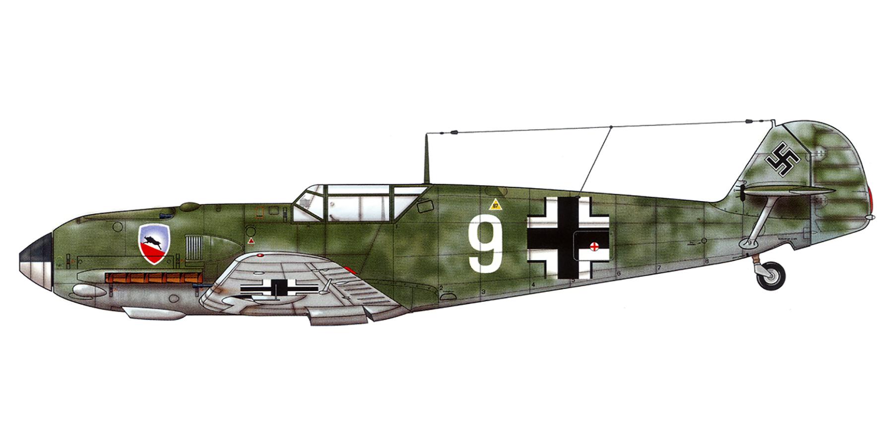 Messerschmitt Bf 109E1 1.JG52 White 9 Herbert Bischoff forced landed near Kent 24th Aug 1940 0C