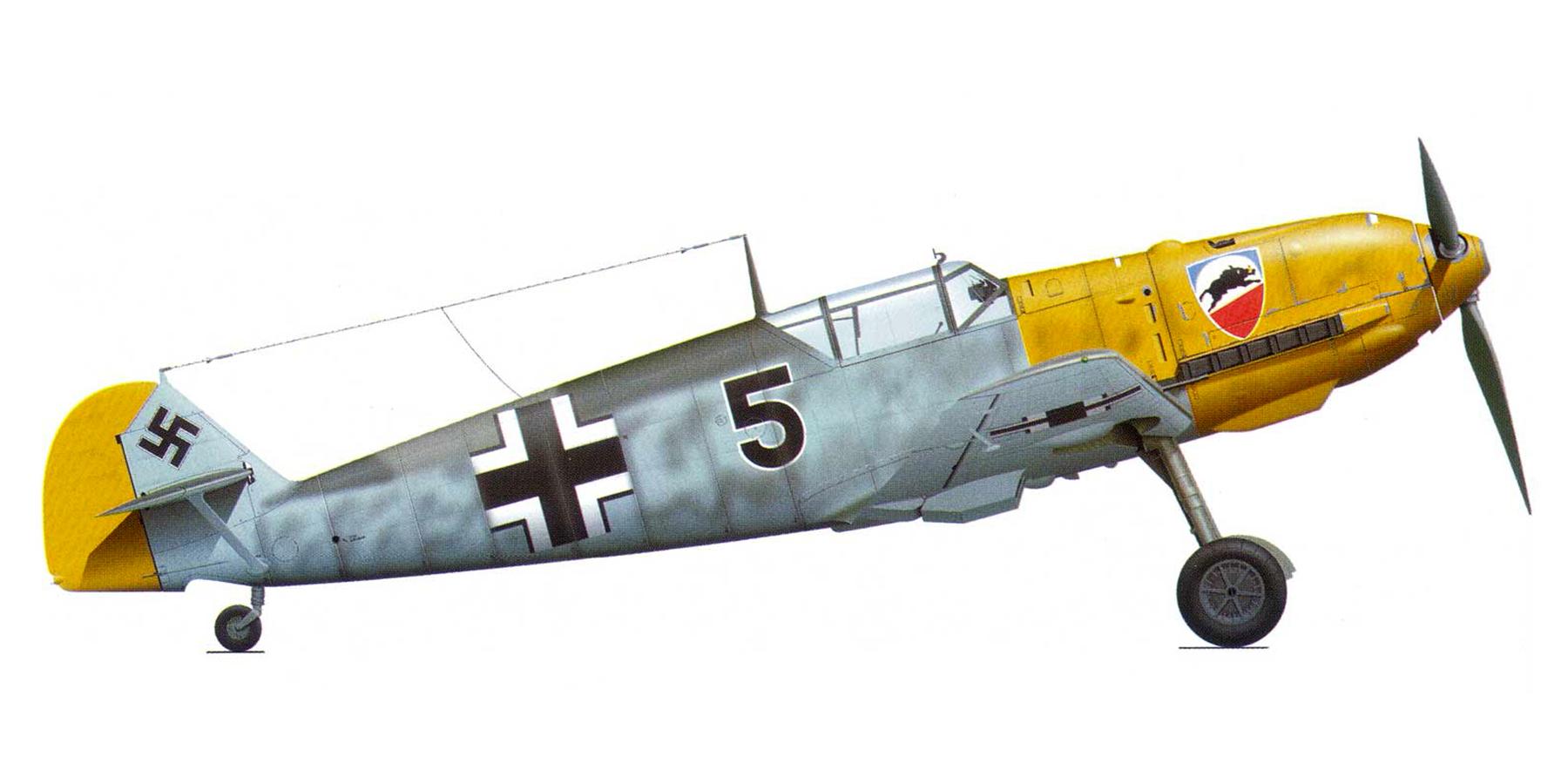 Messerschmitt Bf 109E3 2.JG52 Black 5 Helmut Bennemann Calais France 1940 0A