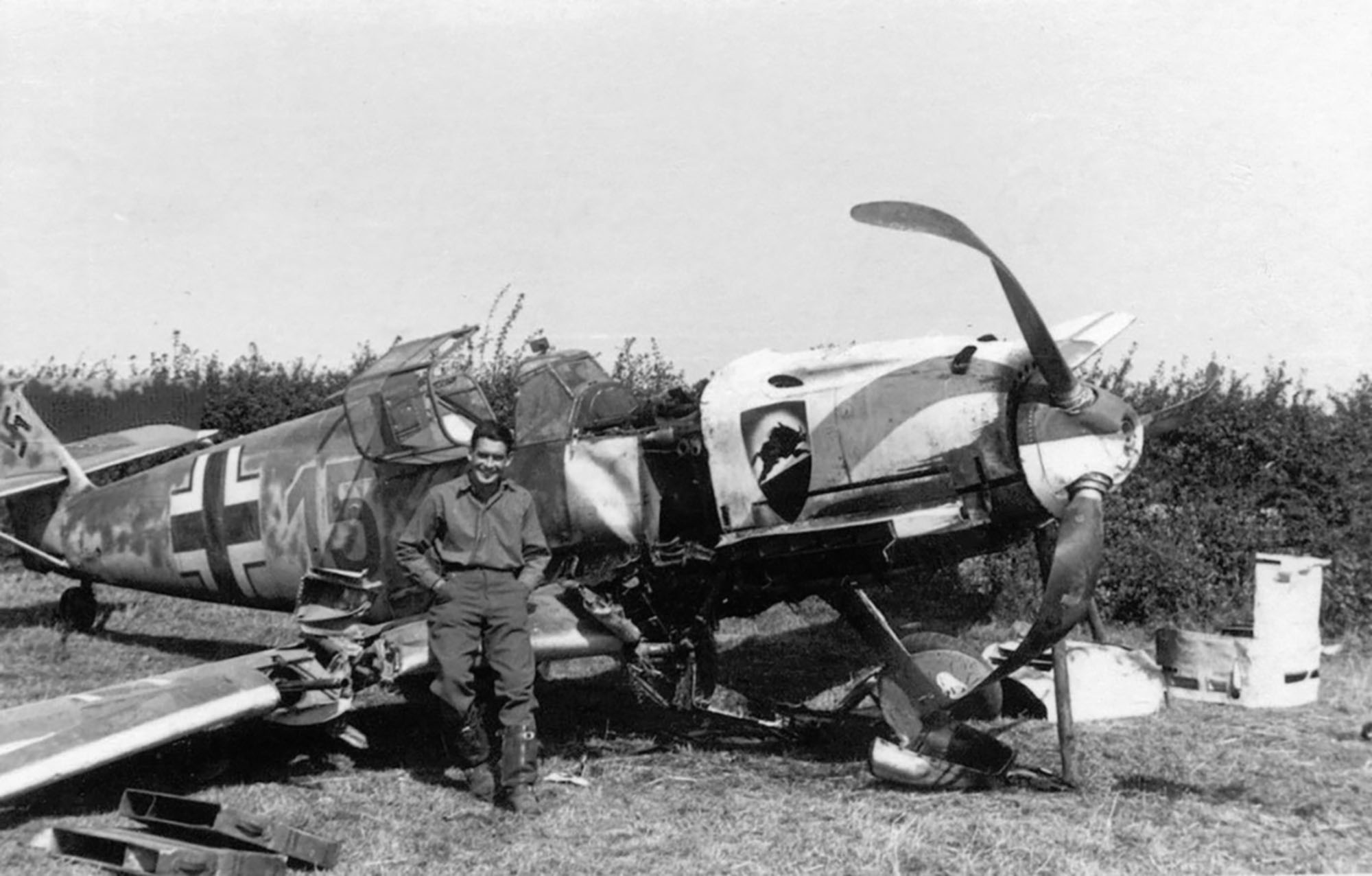Messerschmitt Bf 109E3 3.JG52 Yellow 15 Kurt Wolff crash landed France 30th Aug 1940 03