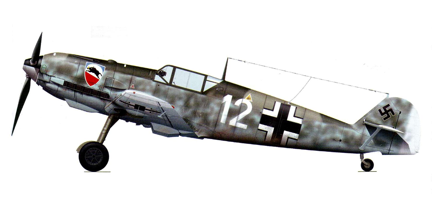 Messerschmitt Bf 109E4 1.JG52 White 12 Heinz Uerlings crash landed UK 2nd Sep 1940 01 0A