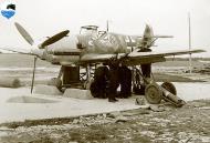 Asisbiz Messerschmitt Bf 109E7 Stab II.JG77 Chevron Bar undergoing maintenance 01