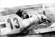 Asisbiz Messerschmitt Bf 109E3 3.JG77 Red 13 Karl Raisinger WNr 5104 crash landed Brighton 25th Oct 1940 IWM HU88413