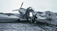 Asisbiz Messerschmitt Bf 109E3 6.JG77 pilot preparing for take off Aalborg Norway 1940 01