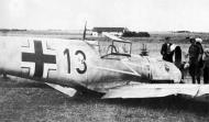 Asisbiz Messerschmitt Bf 109E4 2.JG77 Black 13 belly landed Battle of France 1940 01