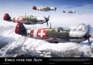 Asisbiz Artwork by aviationclassics titled Emils over the Alps 0A