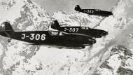 Asisbiz Messerschmitt Bf 109D1 Swiss FlKp21 J306 WNr 2301,J307 WNr 2302 and J302 WNr 2299 Switzerland 1939 01