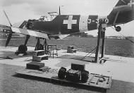Asisbiz Messerschmitt Bf 109E3 Swiss J320 or J380 undergoing maintenance Switzerland 01