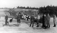 Asisbiz Messerschmitt Bf 109F2 JFS2 White 26 unknown location being refuelled 01