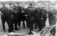 Asisbiz Aircrew Luftwaffe pilot III.JG26 Adolf Galland briefing Aircrew Luftwaffe pilot at Caffiers 01