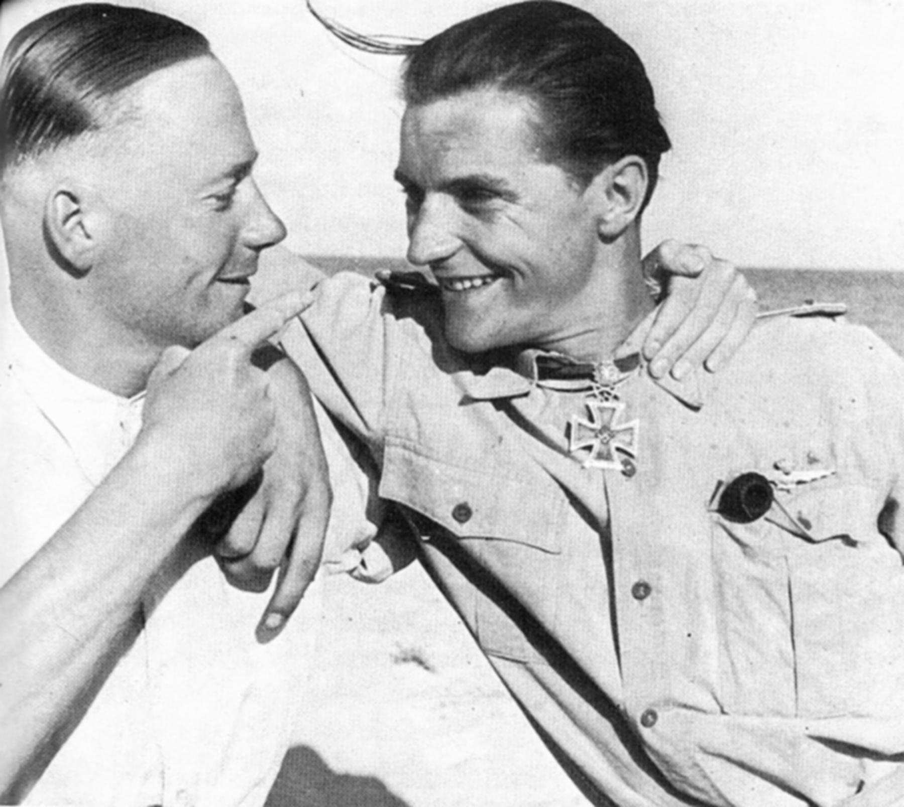 Aircrew Luftwaffe .JG27 ace Hans Joachim Marseille and Fritz Dettmann