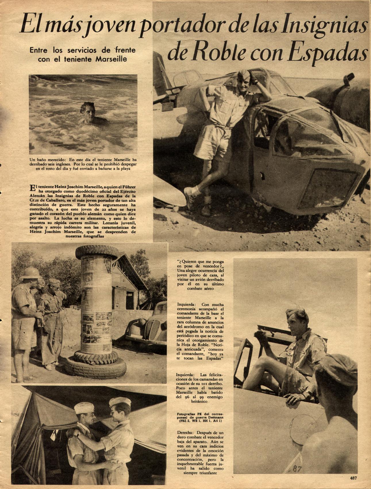 Aircrew Luftwaffe JG27 ace Hans Joachim Marseille Der Adler Aug 1942 01