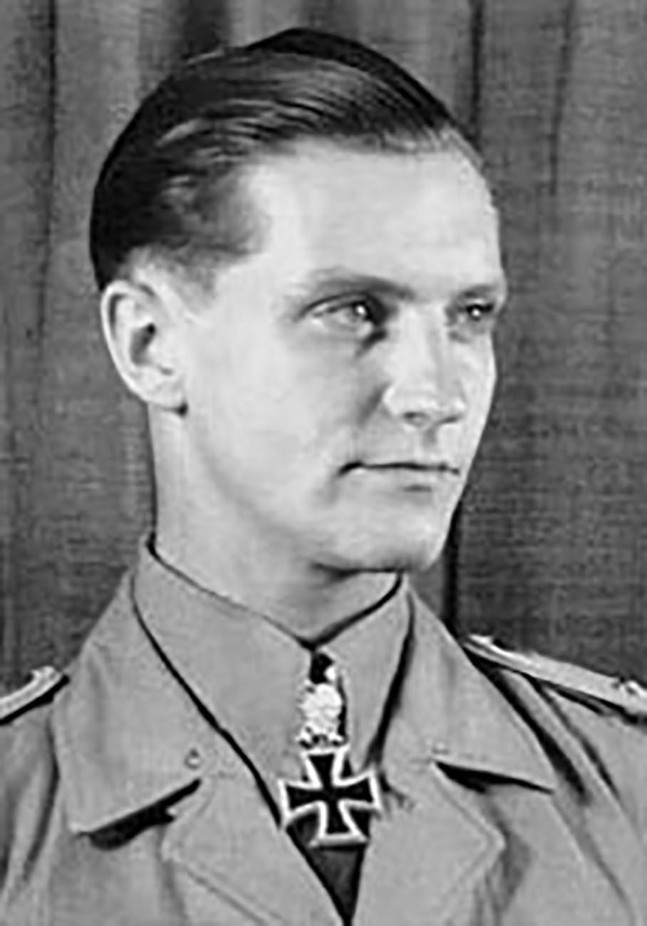 Aircrew Luftwaffe JG27 ace Hans Joachim Marseille black and white portrait photo 01