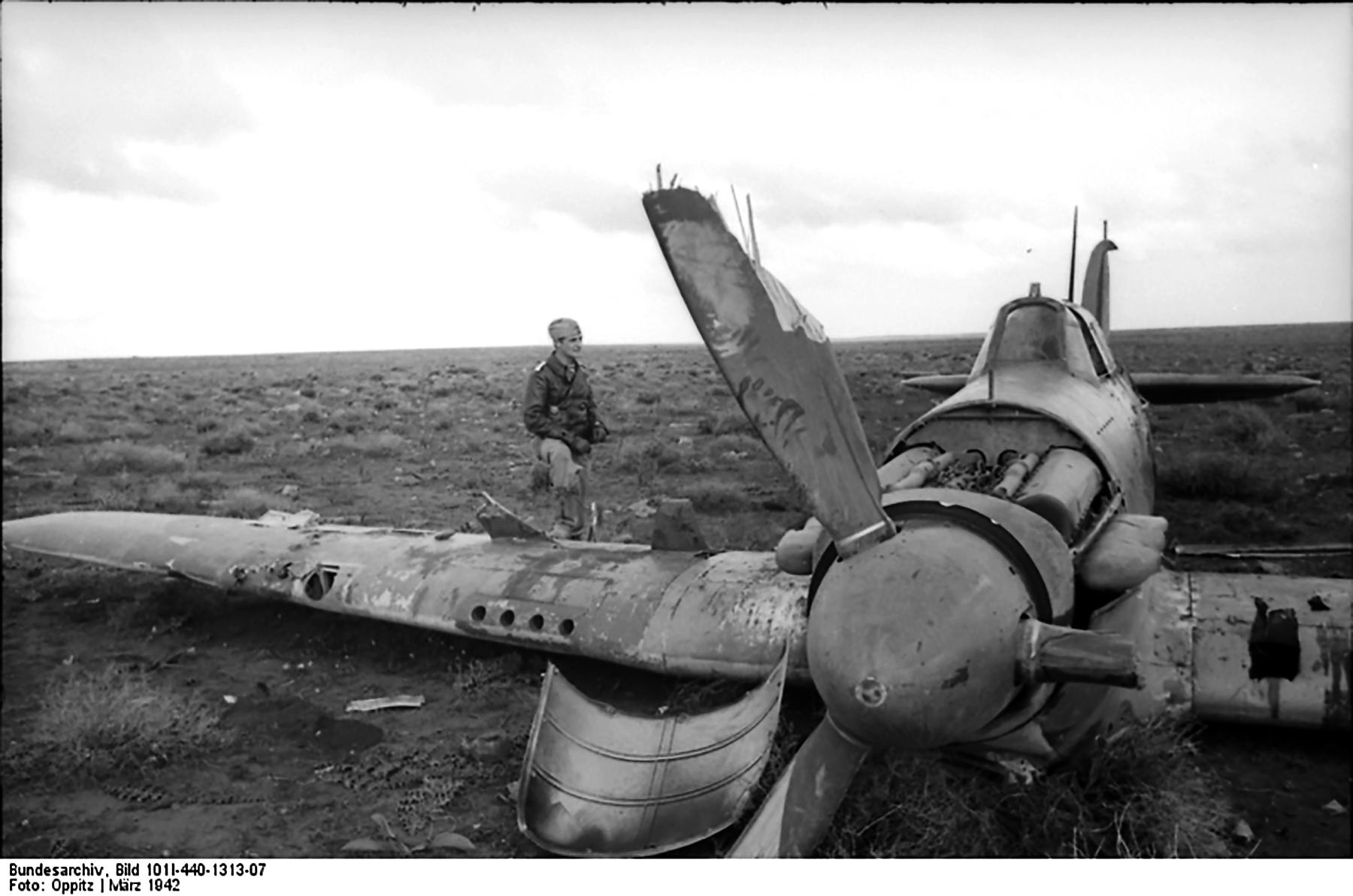 Aircrew Luftwaffe JG27 ace Hans Joachim Marseille with a 214Sqn Hurricane 04