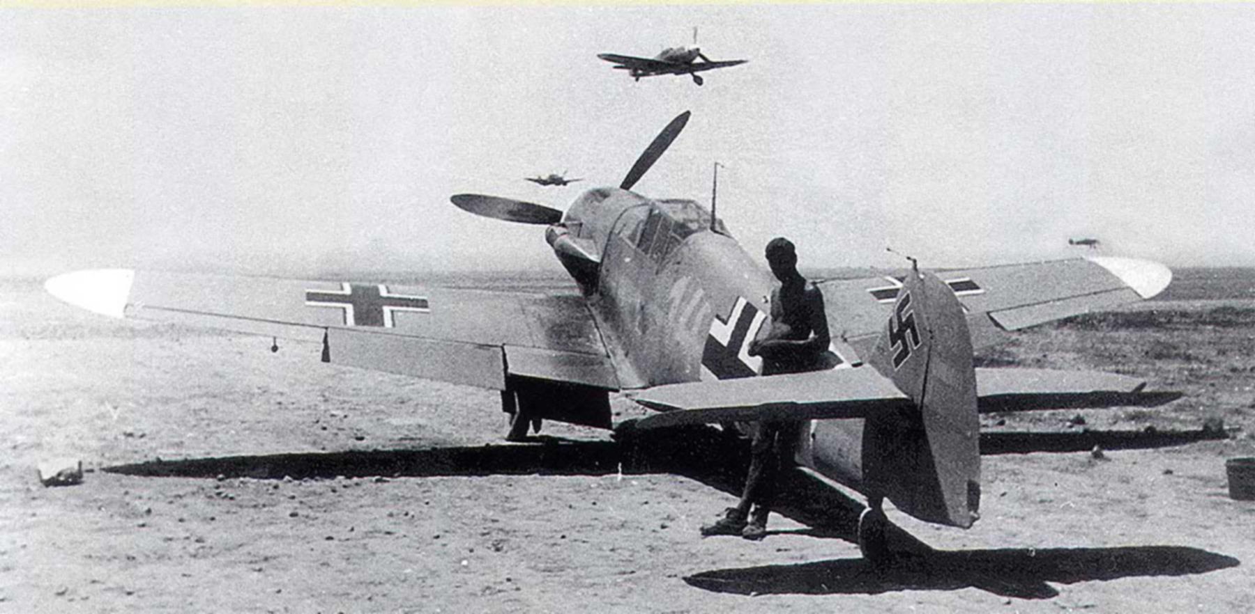 Messerschmitt Bf 109F4Trop 3.JG27 Yellow 14 Hans Joachim Marseille WNr 10137 Africa 21st June 1942 01
