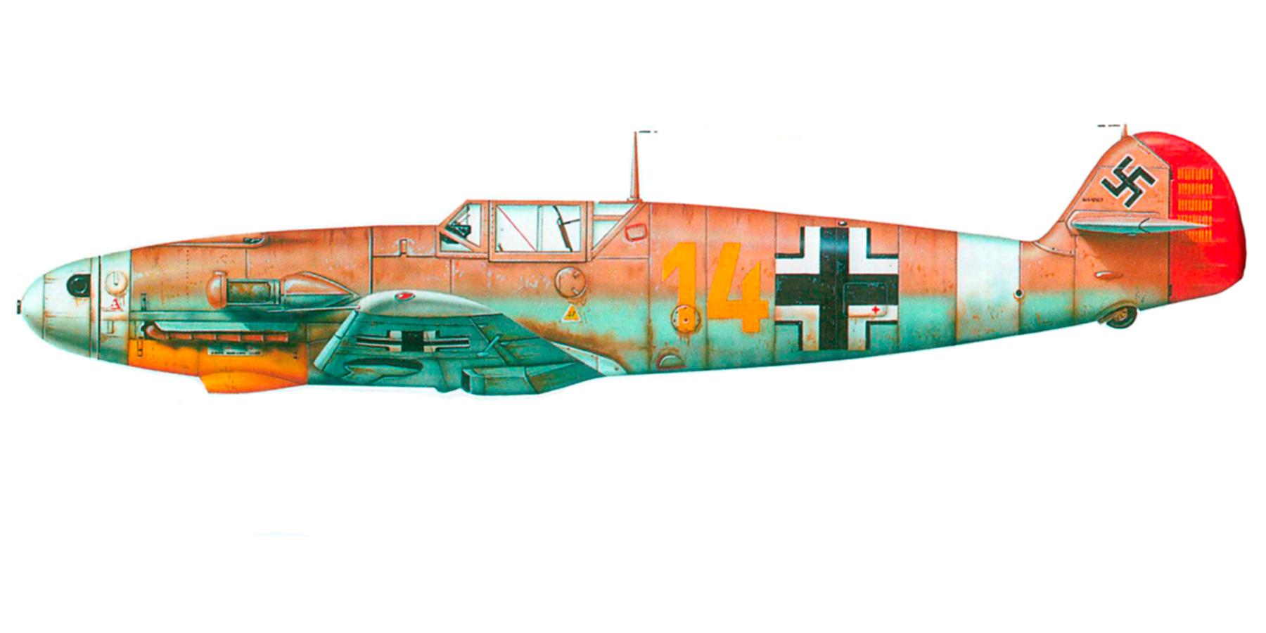 Messerschmitt Bf 109F4Trop 3.JG27 Yellow 14 Hans Joachim Marseille WNr 8693 Martuba Feb 1942 0A