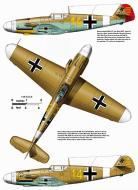 Asisbiz Messerschmitt Bf 109F4Trop 3.JG27 Yellow 14 Hans Joachim Marseille WNr 8693 Feb 1942 0A