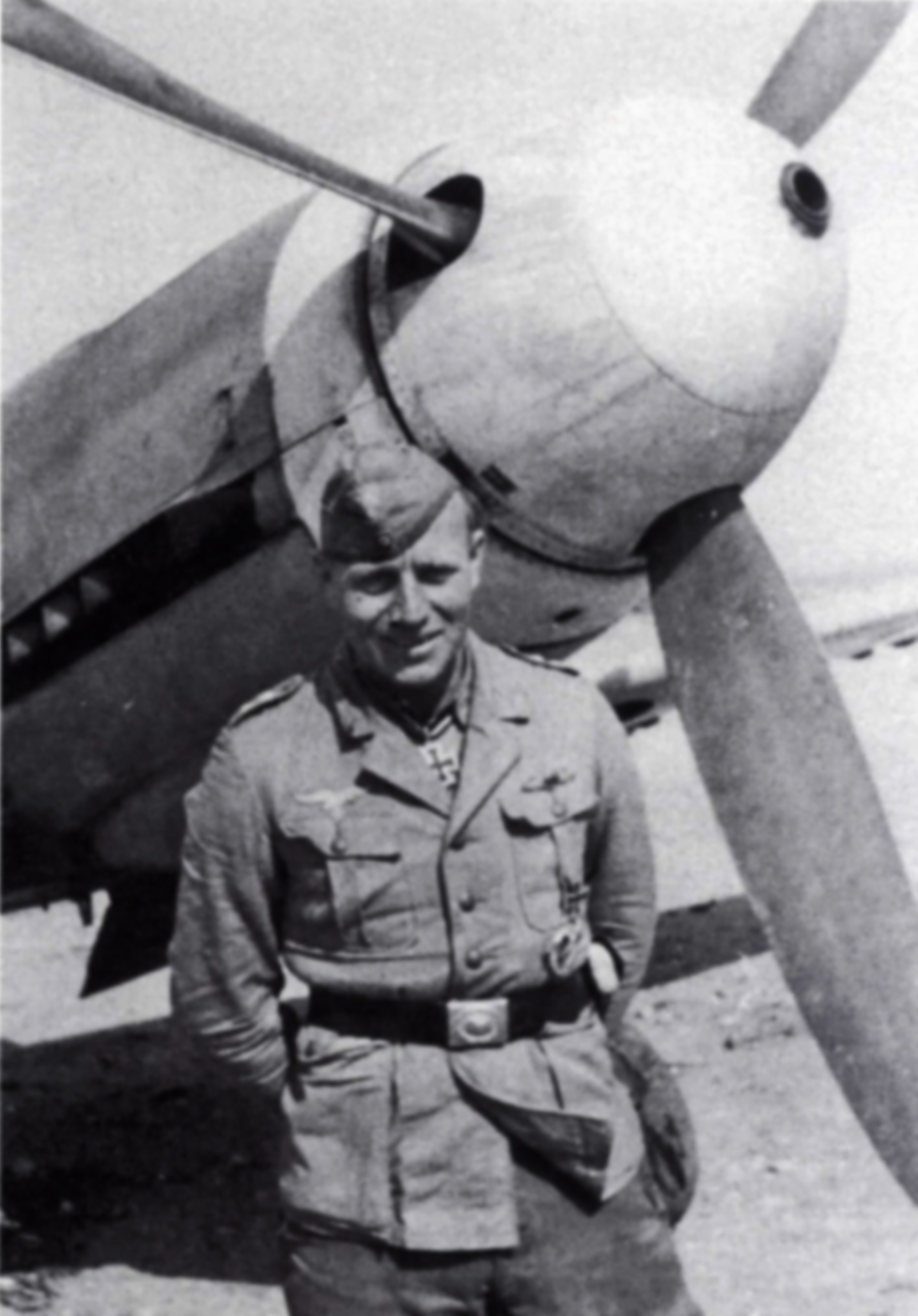 Aircrew Luftwaffe JG27 ace Otto Schulz North Africa 1942 02