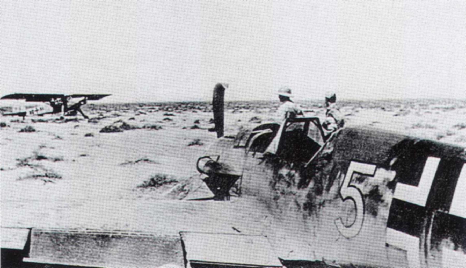 Messerschmitt Bf 109F4Trop 1.JG27 White 5 Albert Espenlaub crash landed El Adem 1941 01