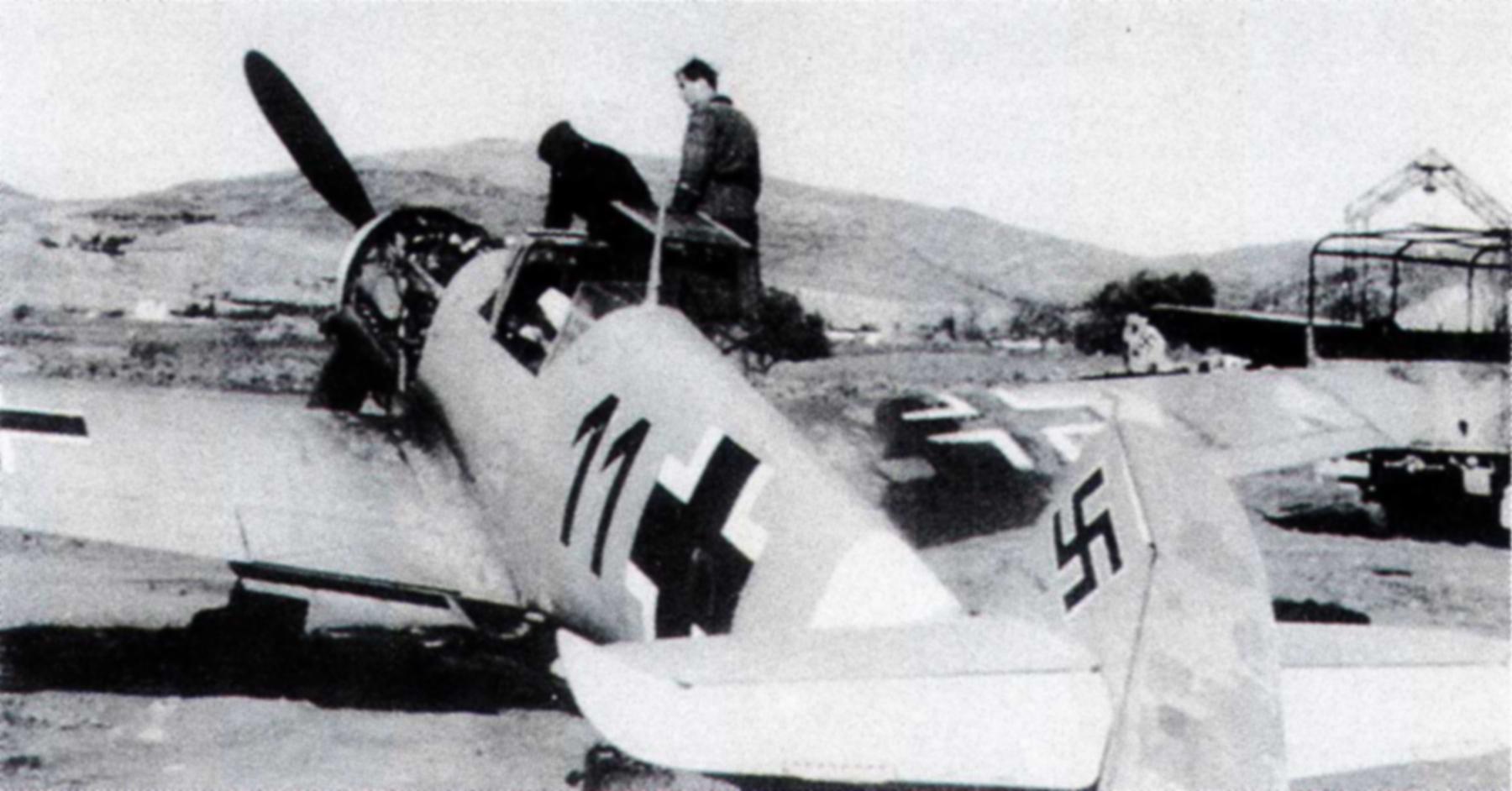 Messerschmitt Bf 109F4Trop 2.JG27 Black 11 WNr 7510F Crete Greece 1943 01