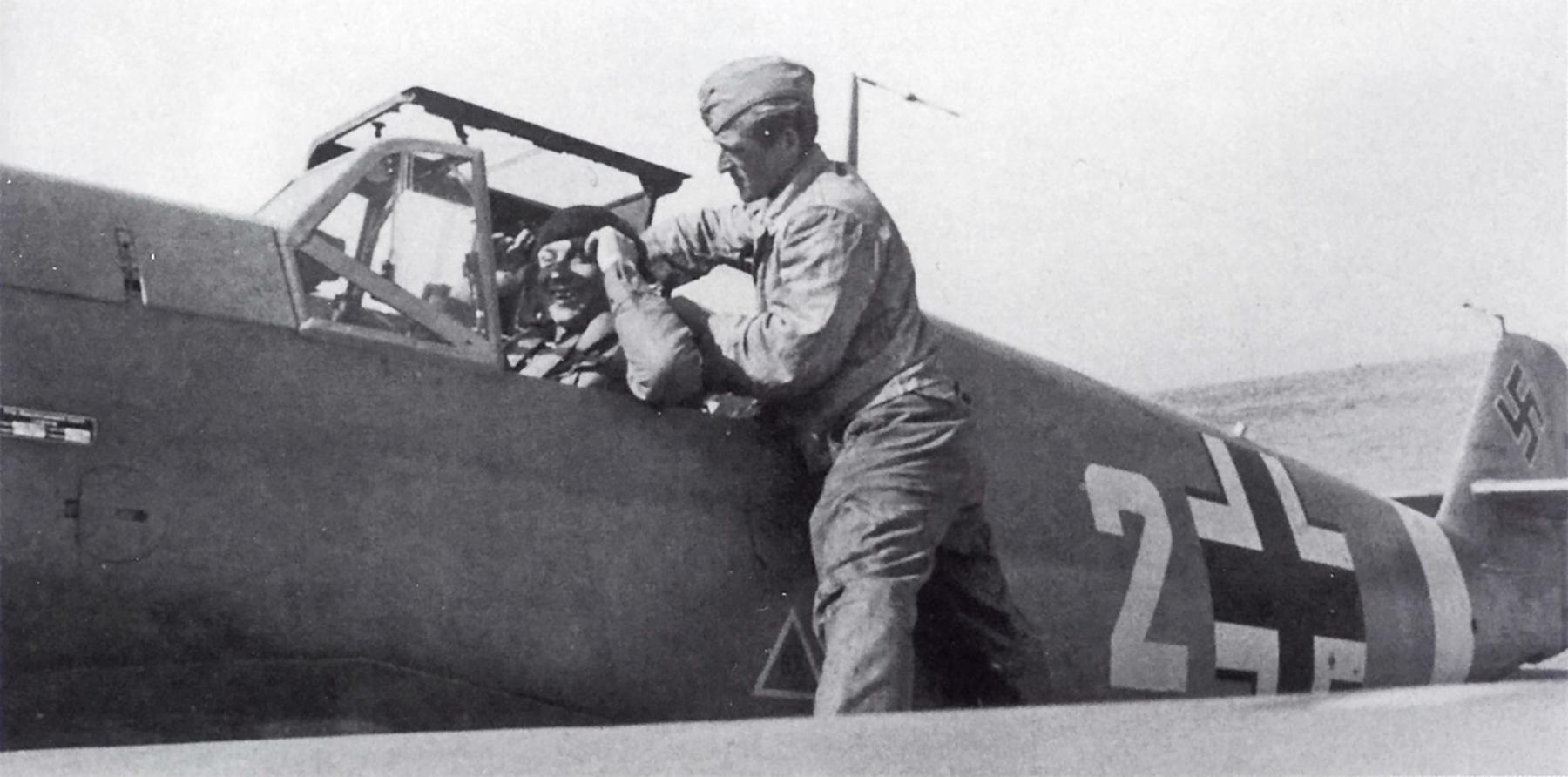 Messerschmitt Bf 109F4Trop 4.JG27 White 2 Otto Schulz Libya 1942 01