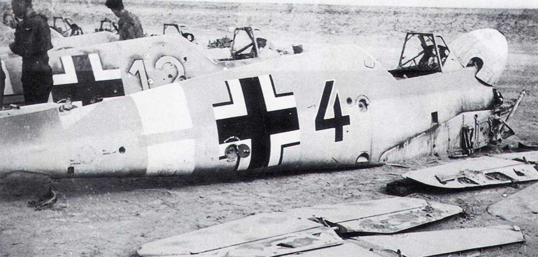 Messerschmitt Bf 109F4Trop 5.JG27 Black 4 Martuba Libya Feb 1942 05