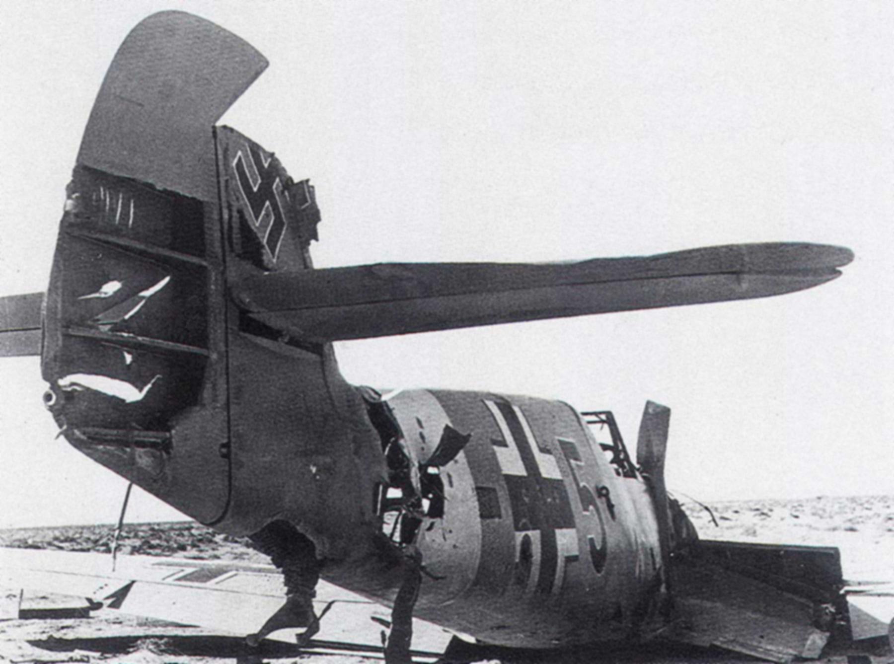 Messerschmitt Bf 109F4Trop 5.JG27 Red 5 abandoned North Africa Nov 1942 01