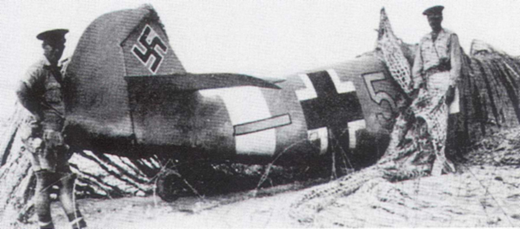 Messerschmitt Bf 109F4Trop 6.JG27 Yellow 5 Gehard Mix WNr 10074 crashed El Alamein Egypt Aug 14 1942 02