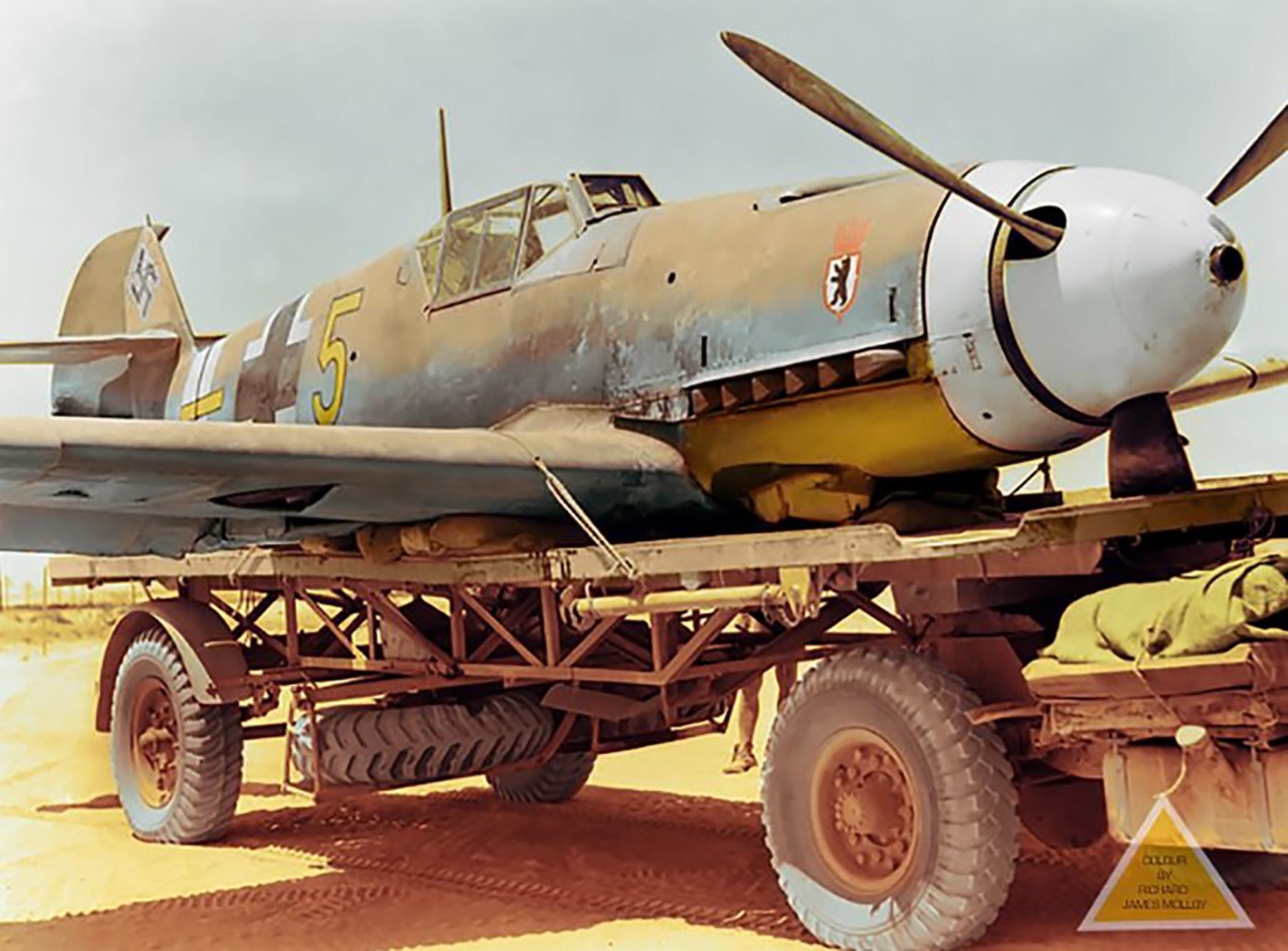 Messerschmitt Bf 109F4Trop 6.JG27 Yellow 5 Gerhard Mix WNr 10074 Egypt 14 Aug 1942 01