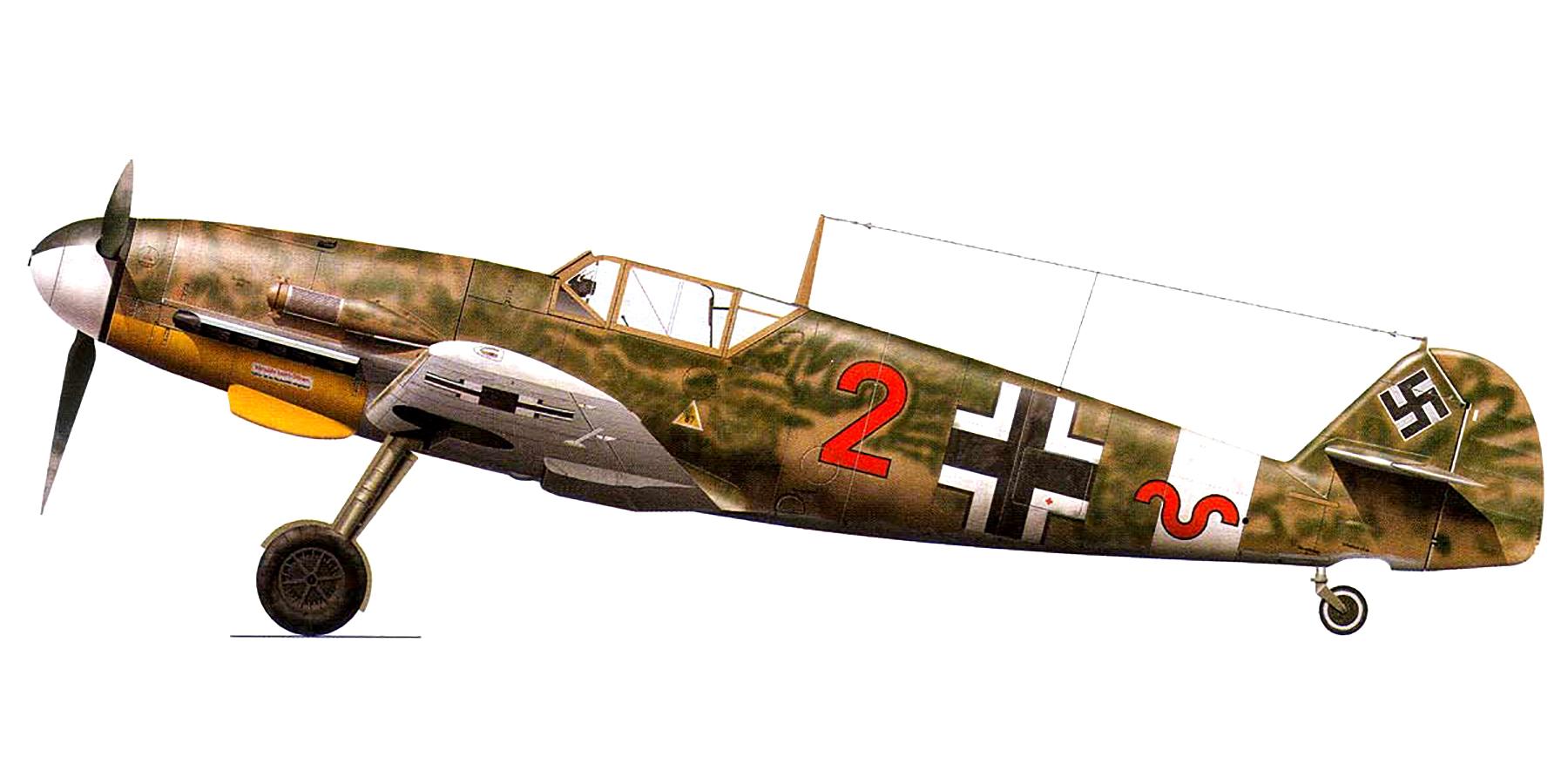 Messerschmitt Bf 109F4Trop 8.JG27 Red 2 Gadurra AF Rhodes Greece Feb 1943 0A