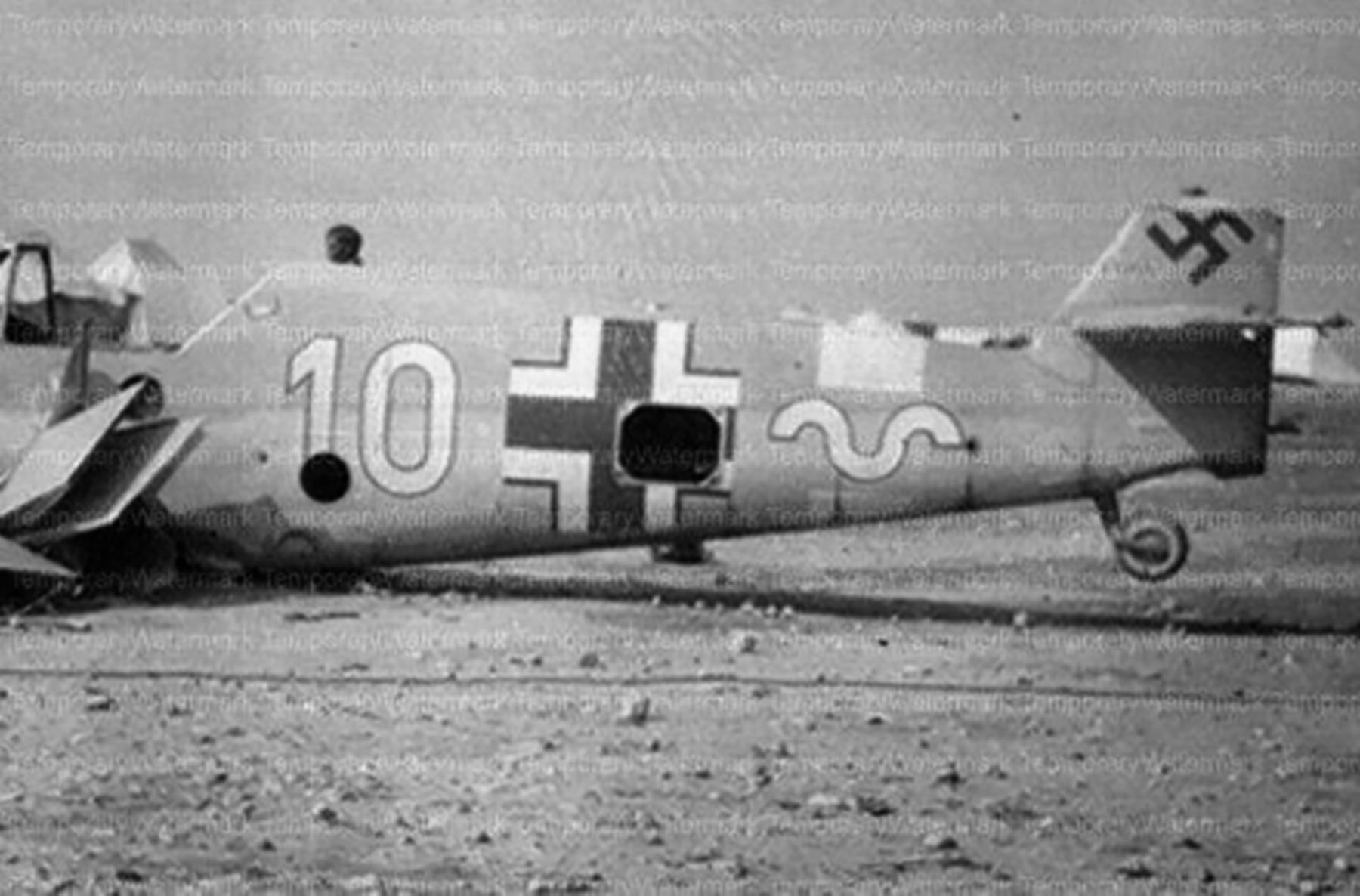 Messerschmitt Bf 109F4Trop 9.JG27 Yellow 10 Bir el Astas 1942 02