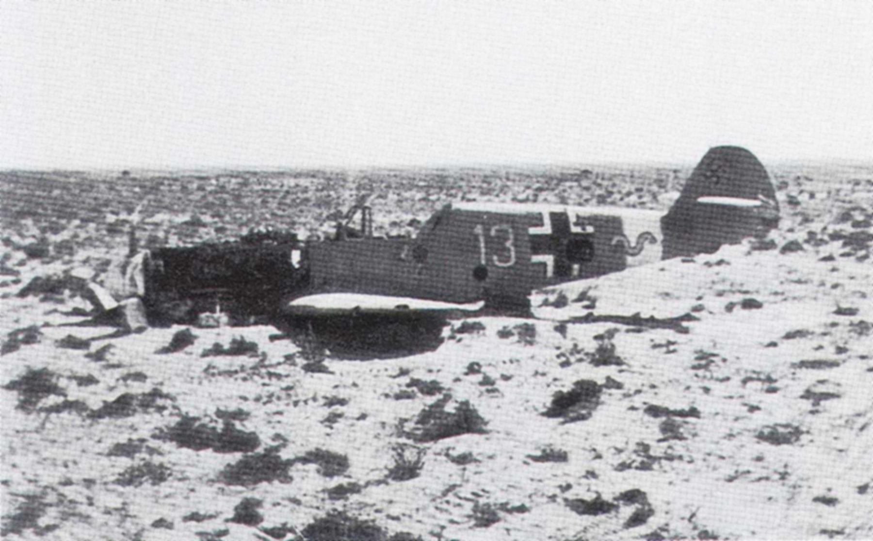Messerschmitt Bf 109F4Trop 9.JG27 Yellow 13 crash landed North Africa 1942 01