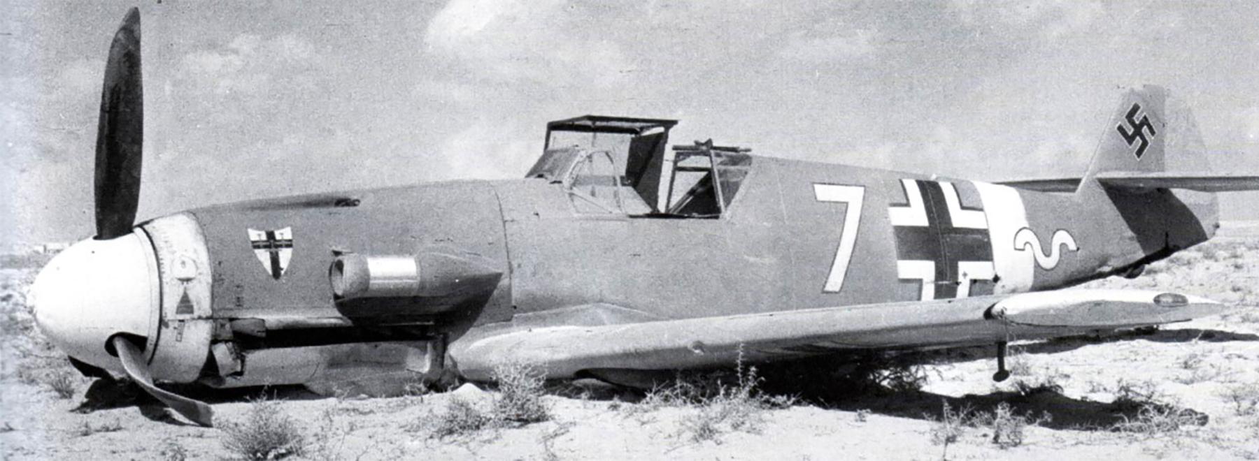 Messerschmitt Bf 109F4Trop 9.JG27 Yellow 7 Helmuth Fenzl WNr 13136 crash Egypt 26th Oct 1942 01