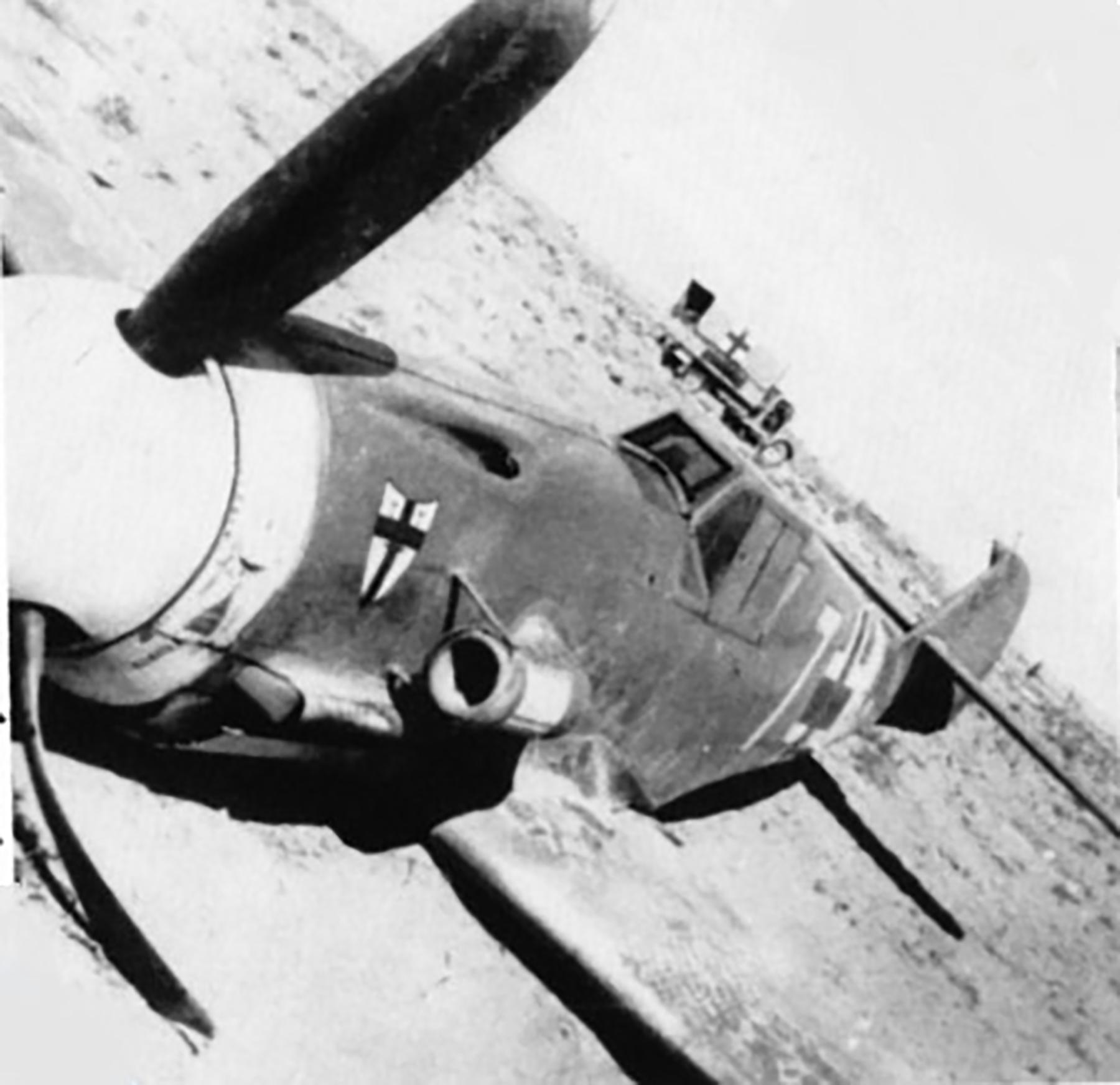 Messerschmitt Bf 109F4Trop 9.JG27 Yellow 7 Helmuth Fenzl WNr 13136 crash Egypt 26th Oct 1942 04