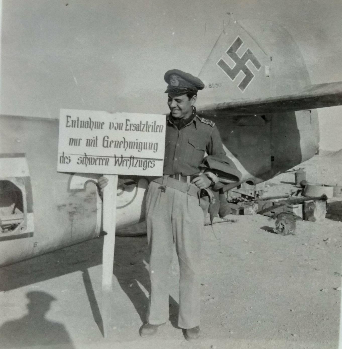 Messerschmitt Bf 109F4Trop 9.JG27 Yellow 9 WNr 8550 abandoned at Bir el Abd 13th Nov 1942 ebay1