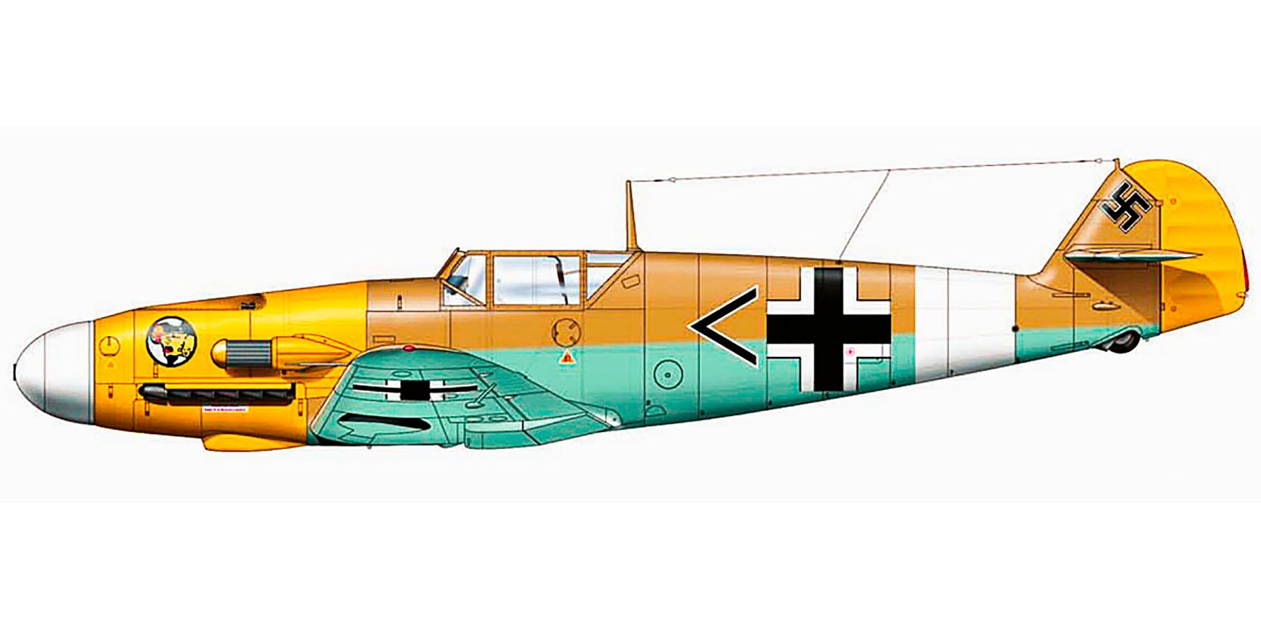 Messerschmitt Bf 109F4Trop Stab I.JG27 Gazala 1941 0A