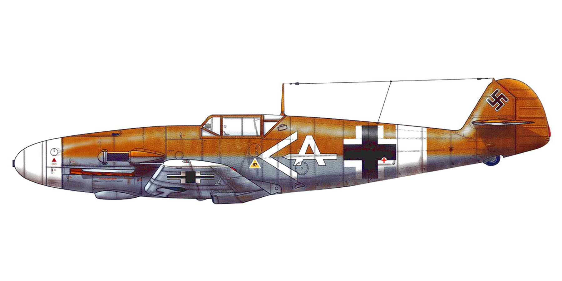 Messerschmitt Bf 109F4Trop Stab I.JG27 Werner Schroer Libya 1942 0A