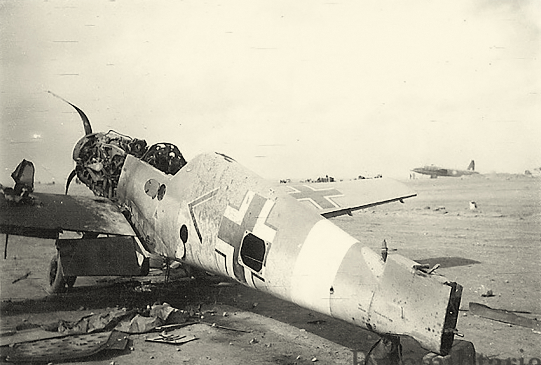 Messerschmitt Bf 109F4Trop Stab I.JG27 captured at Martuba early 1943 ebay 02