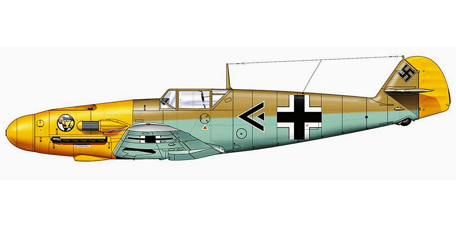 Messerschmitt Bf 109F4Trop Stab II.JG27 Eduard Neumann Libya 1941 0A