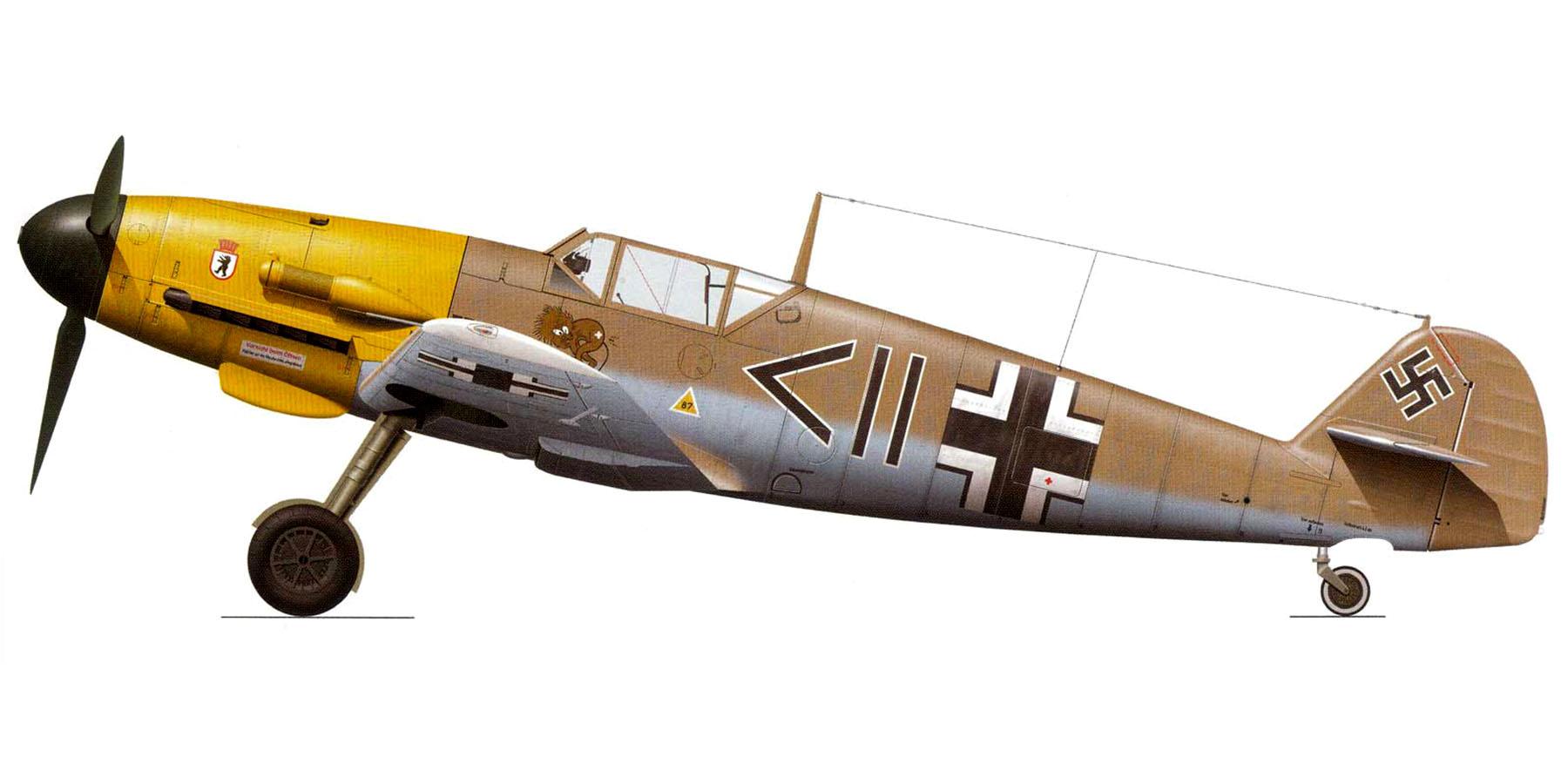 Messerschmitt Bf 109F4Trop Stab II.JG27 Otto Schulz WNr 10271 El Gazala 1942 0A