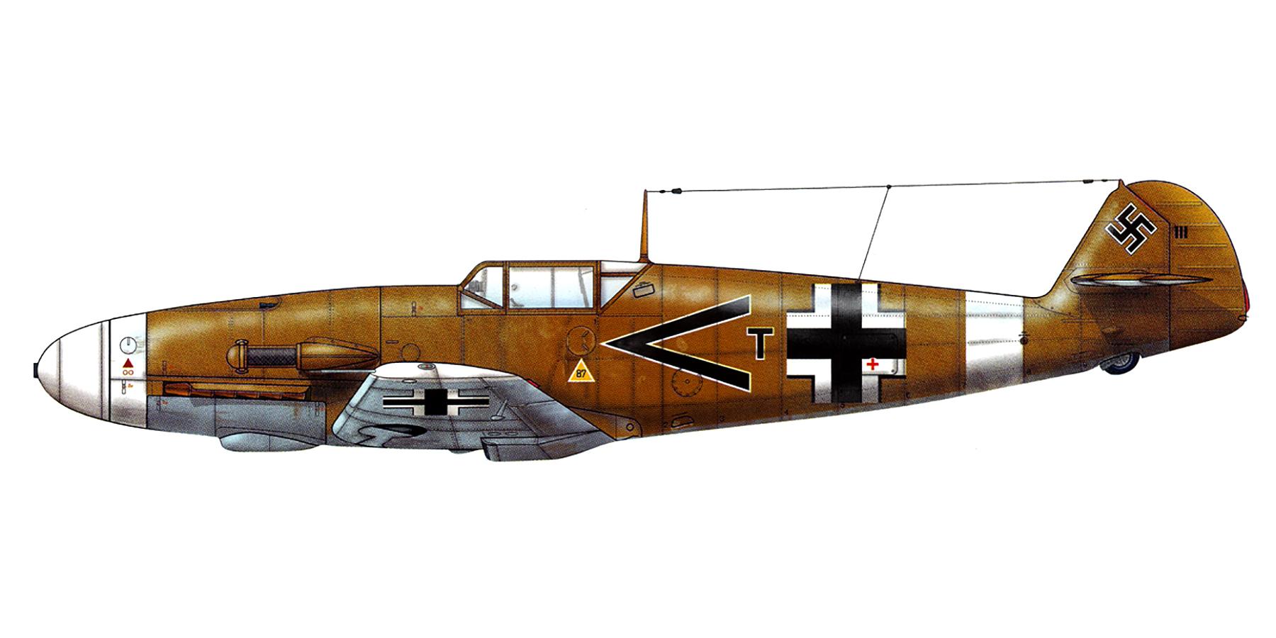 Messerschmitt Bf 109F4Trop Stab II.JG27 Rudolf Rudi Sinner Libya 1942 0A