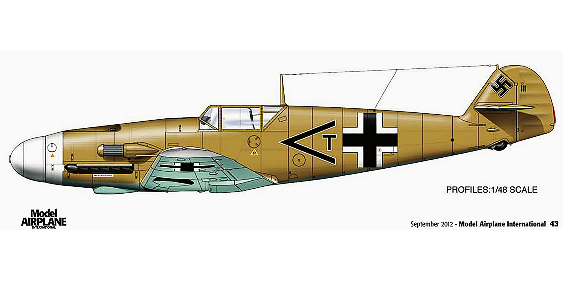 Messerschmitt Bf 109F4Trop Stab II.JG27 Rudolf Rudi Sinner Martuba Apr 1942 0A