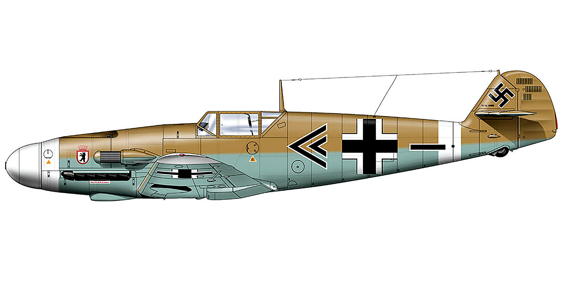 Messerschmitt Bf 109F4Trop Stab II.JG27 Wolfgang Lippert WNr 8469 El Gazala Libya 1941 0A