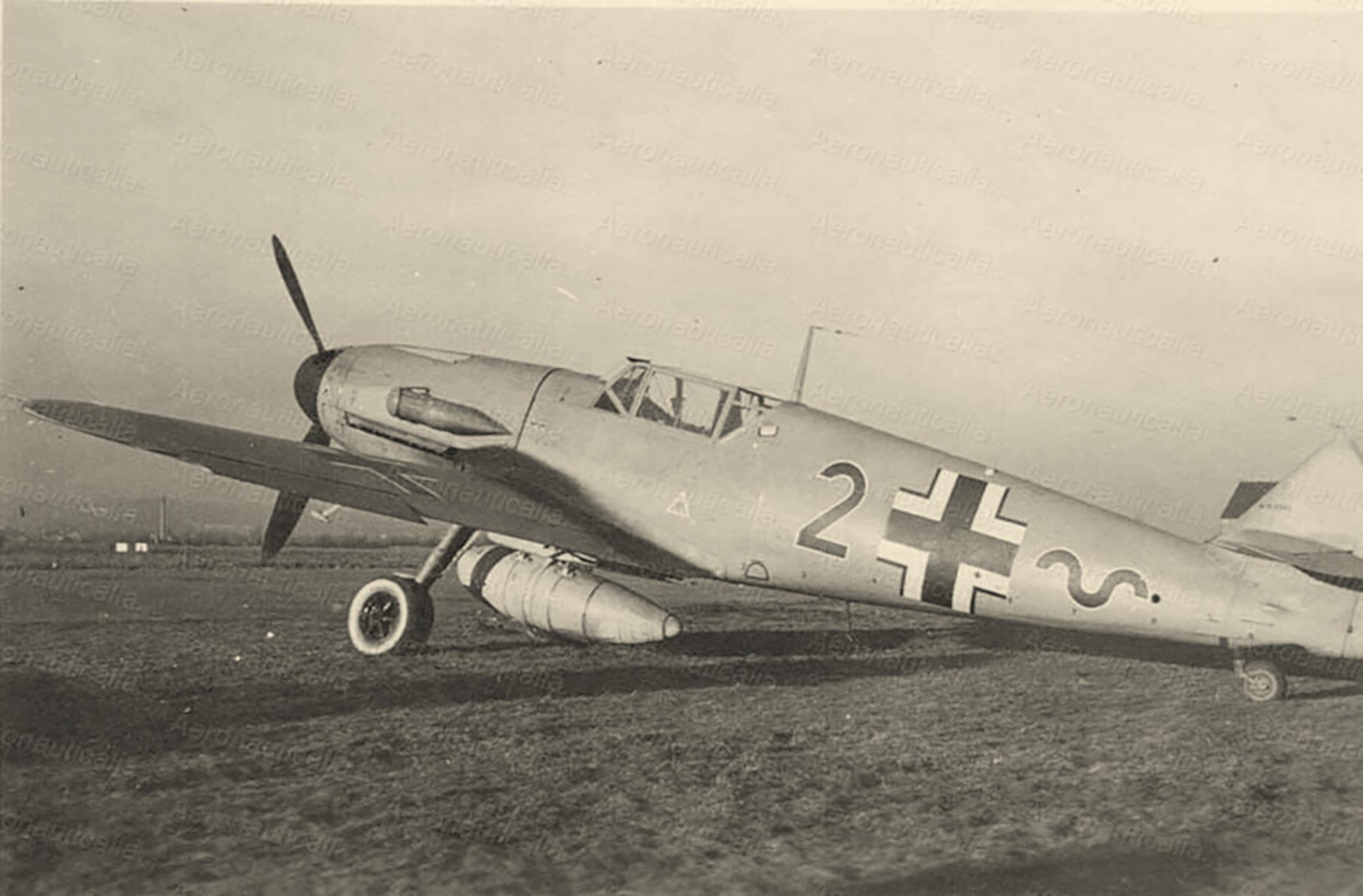 Messerschmitt Bf 109F4ZR6Trop 8.JG27 Black 2 WNr 8542 delivery flight between Sep 1941 n Jan 1942 02