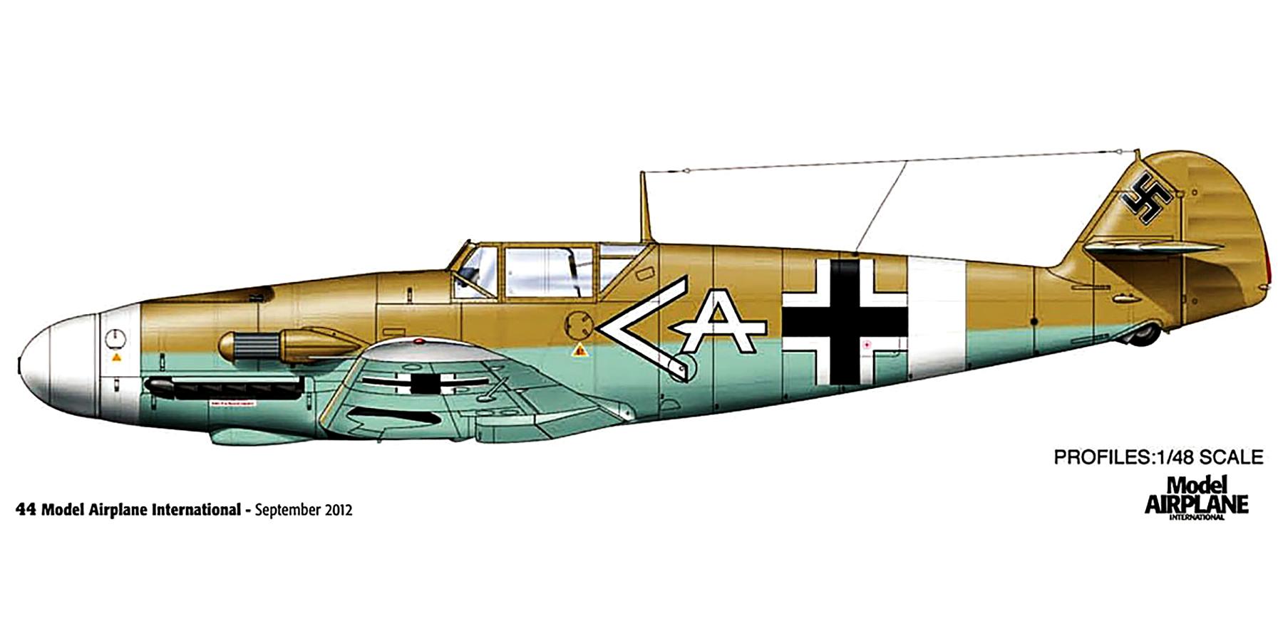 Messerschmitt Bf 109F4ZTrop Stab I.JG27 Werner Schroer Martuba Nov 1942 0A