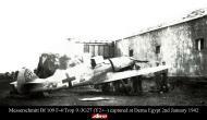Asisbiz Messerschmitt Bf 109F4Trop 9.JG27 Yellow 2 captured at Derna Egypt 1942 01